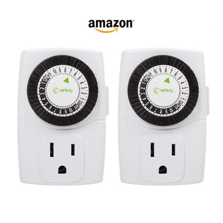 Cannabis equipment electrical outlet timers